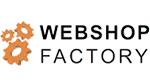 buntes Bilder der Webshop Factory mit orangenen Zahnrädern